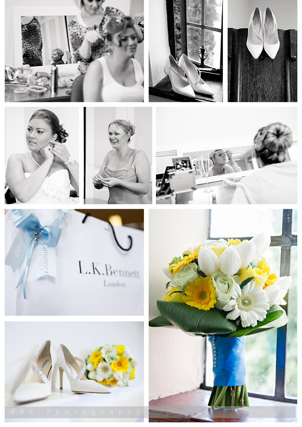 The wedding of Sam & Alan at New Place, Southampton. By contemporary photographers HBA Photography. Photos of the girls getting ready