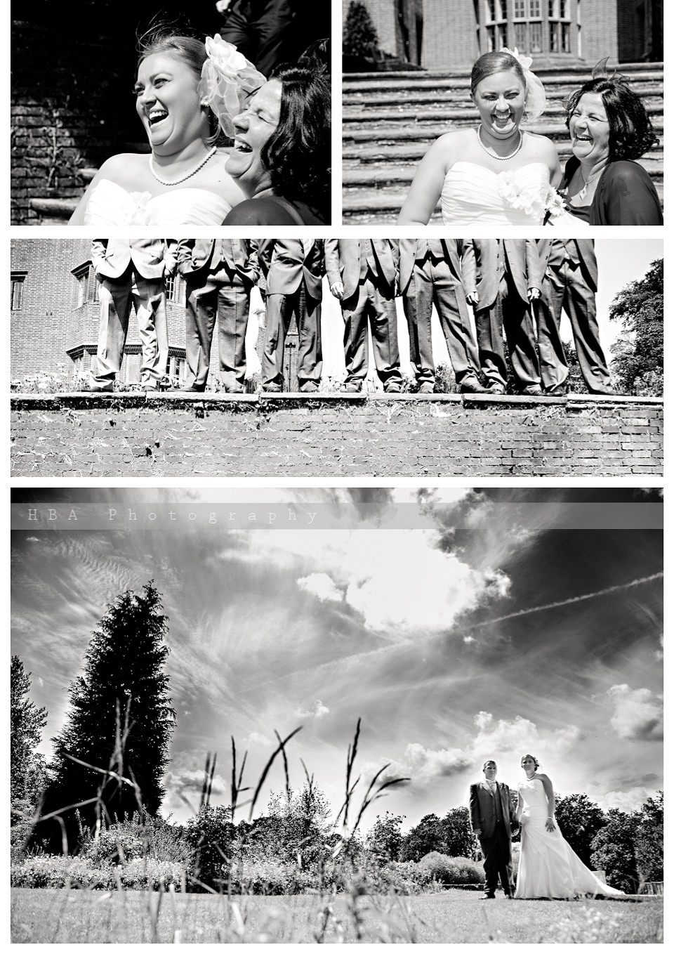 The wedding of Sam & Alan at New Place, Southampton. By contemporary photographers HBA Photography. Photos in the grounds of New Place