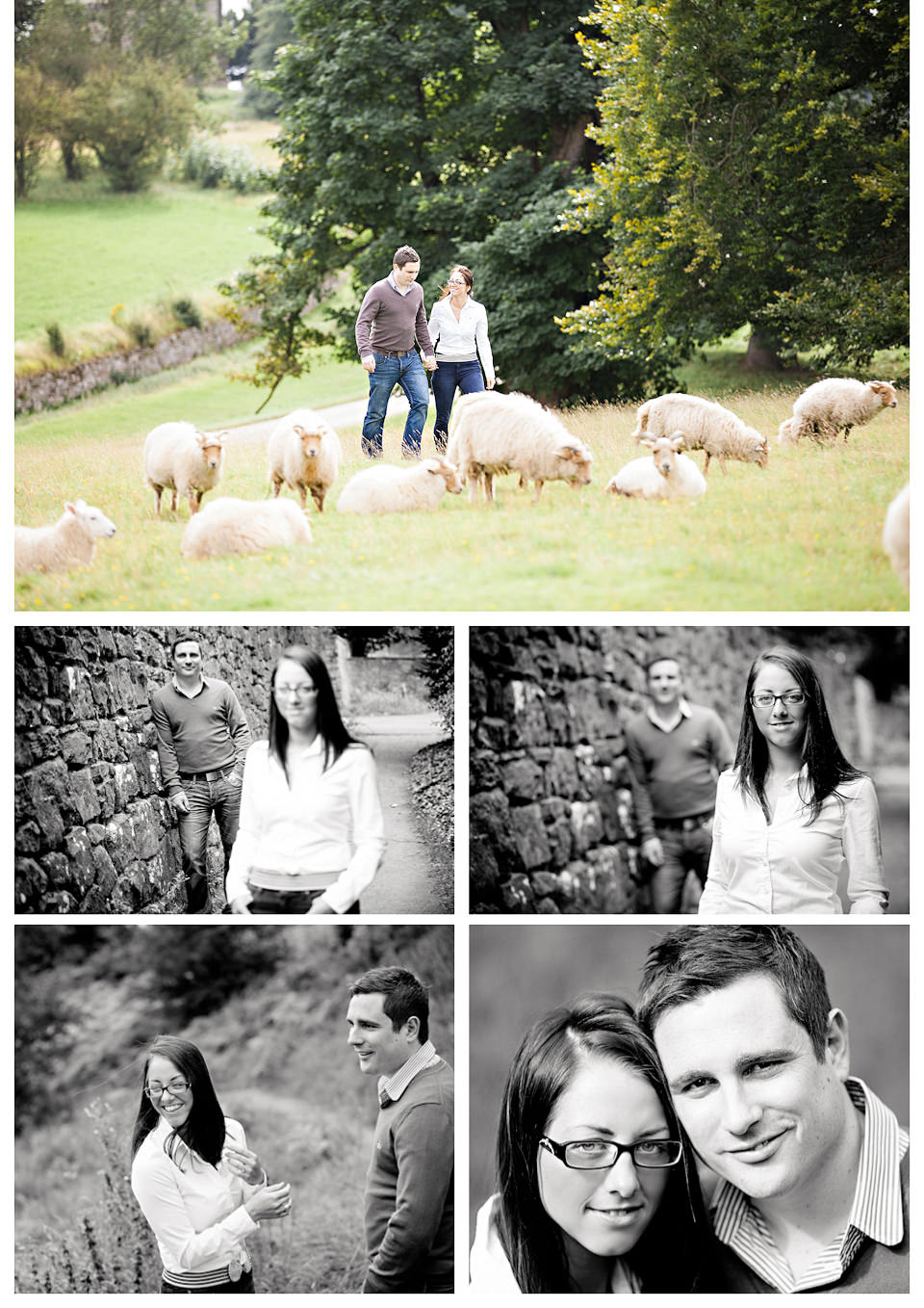 Louise & Richard's engagement photos at Calke Abbey, Derbyshire, by HBA Photography - Relaxed and contemporary wedding photographers