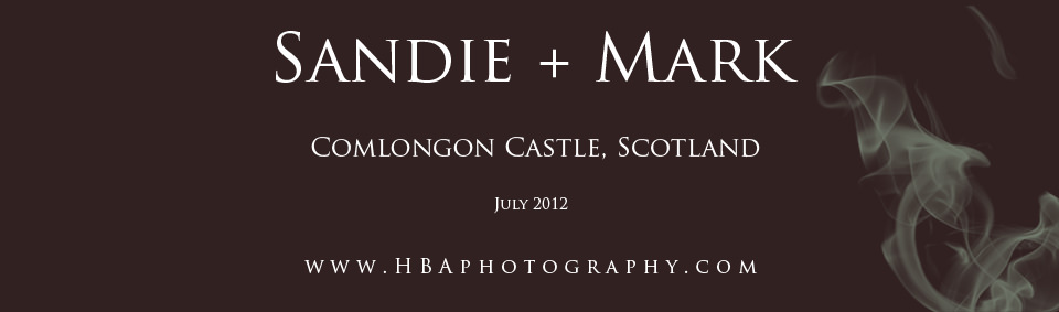 Mark & Sandie's wedding at Comlongon Castle and The Smiths Hotel, Gretna Green. By Derbyshire, staffordshire and Midlands contemporary wedding photographers, HBA Photography