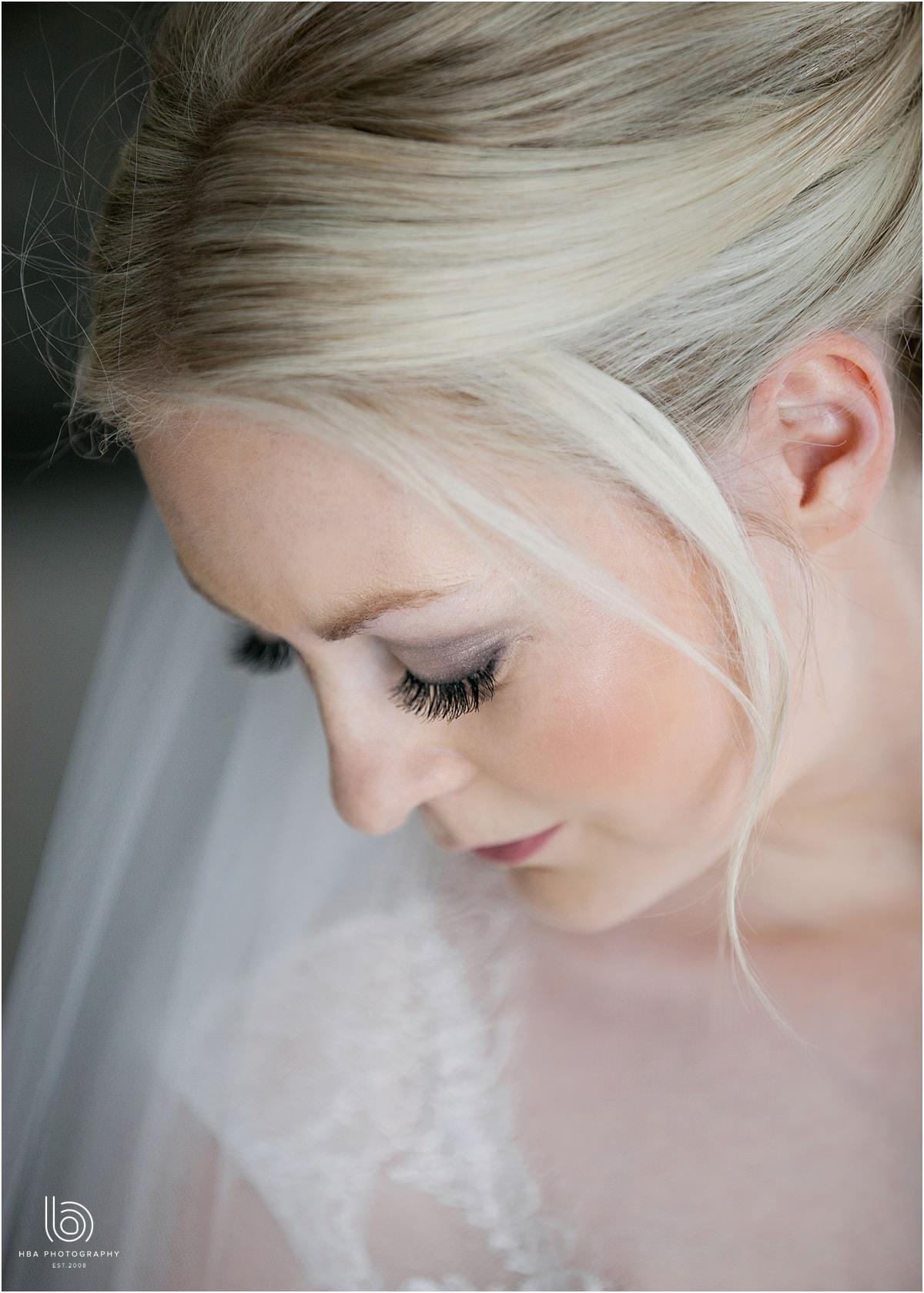 a close bridal portrait photo