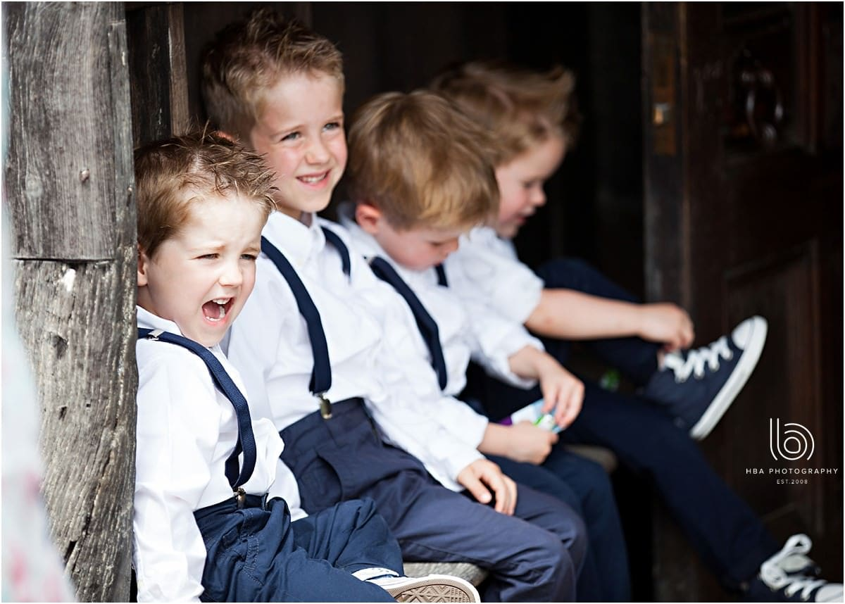 5 little page boys in braces and converse