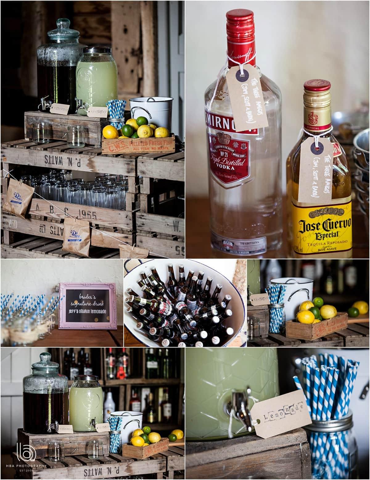 the DIY bar at Pimhill Barns
