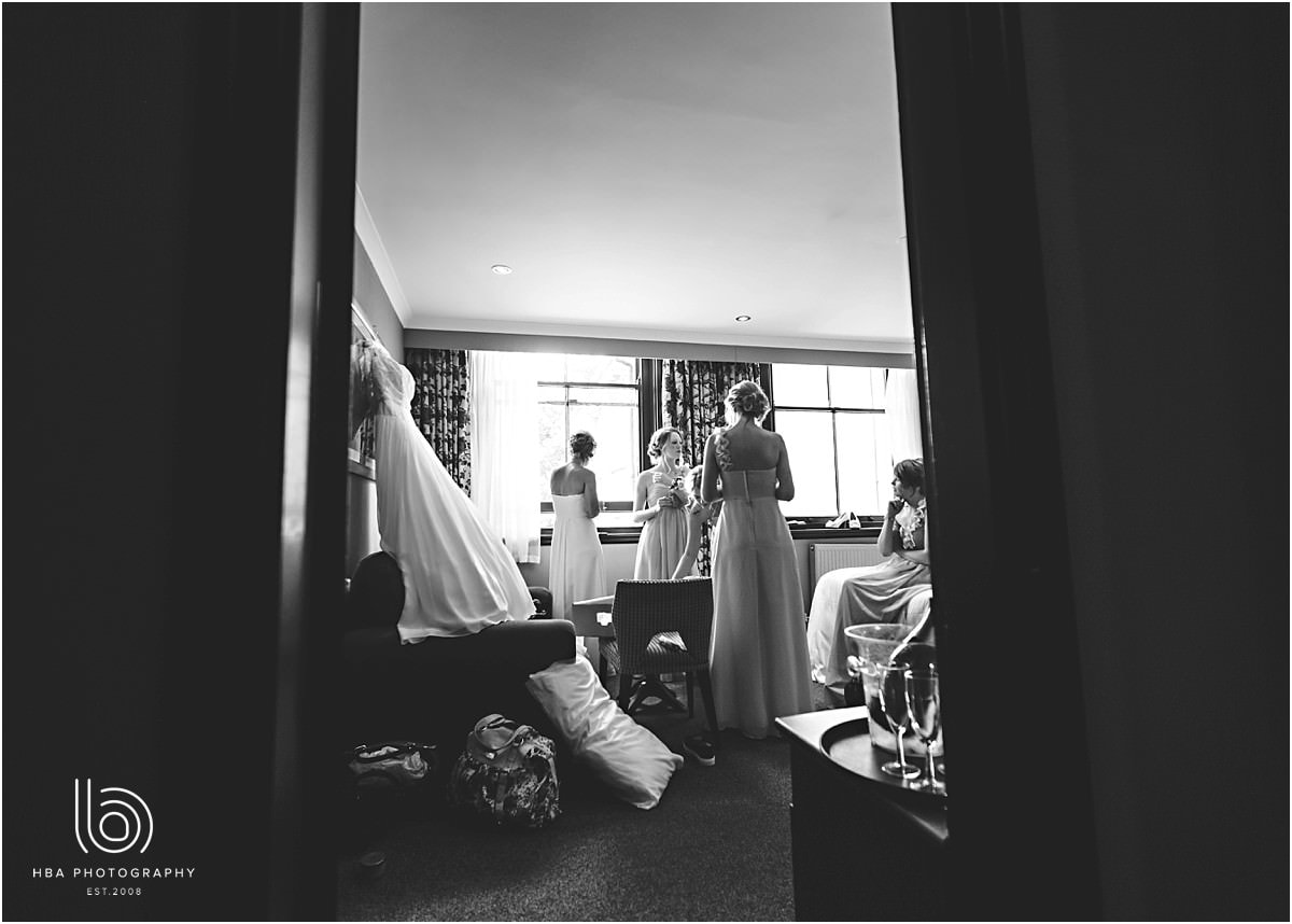 photos of the bride and bridesmaids getting ready during the bridal preperations