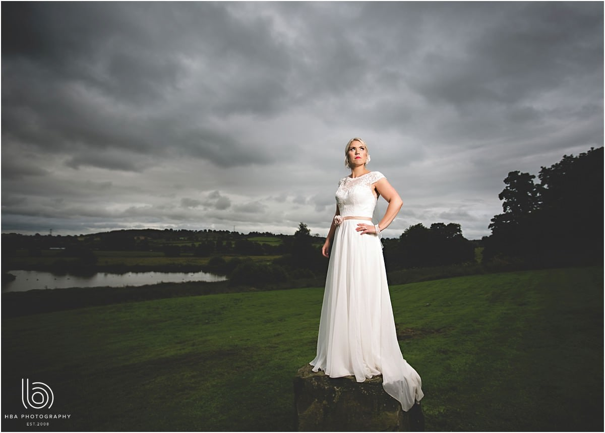 DRAMATIC PHOTO OF THE BRIDE