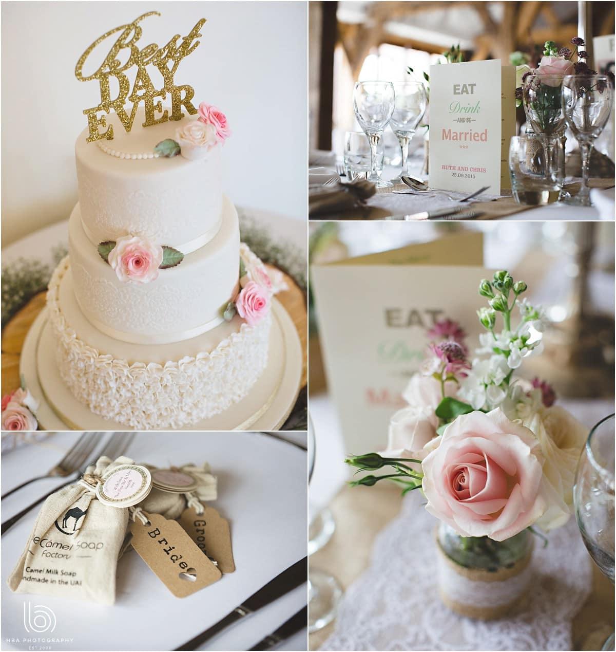 pastel wedding details