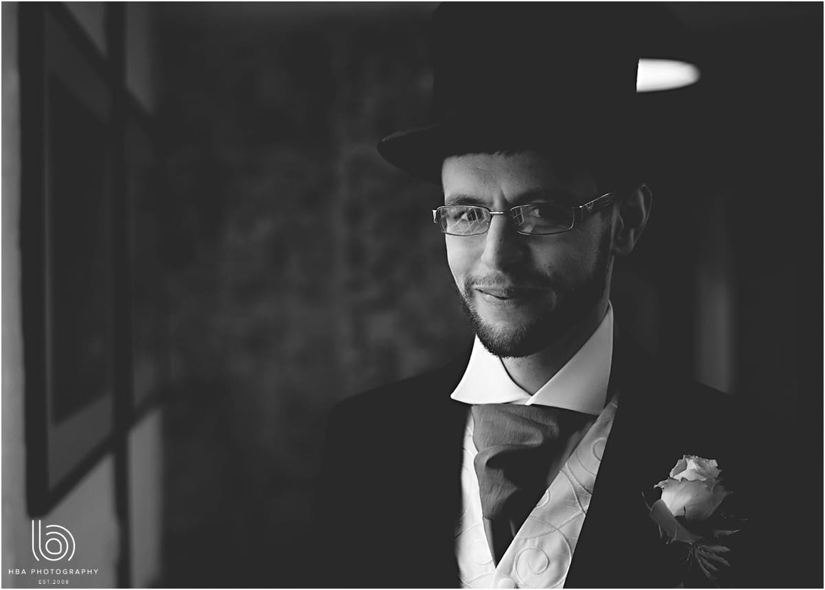 the groom in his top hat