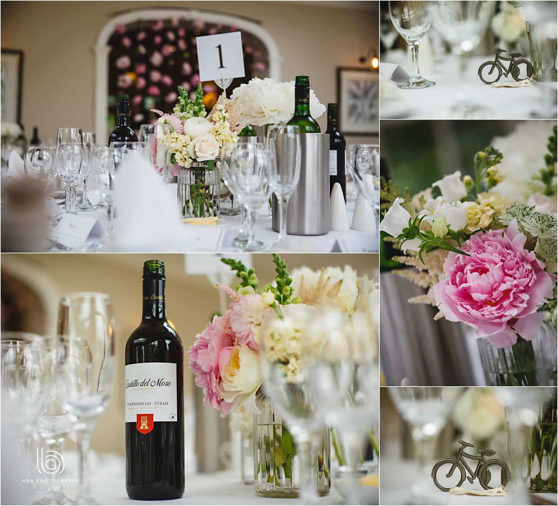 the gorgeous wedding breakfast decorations
