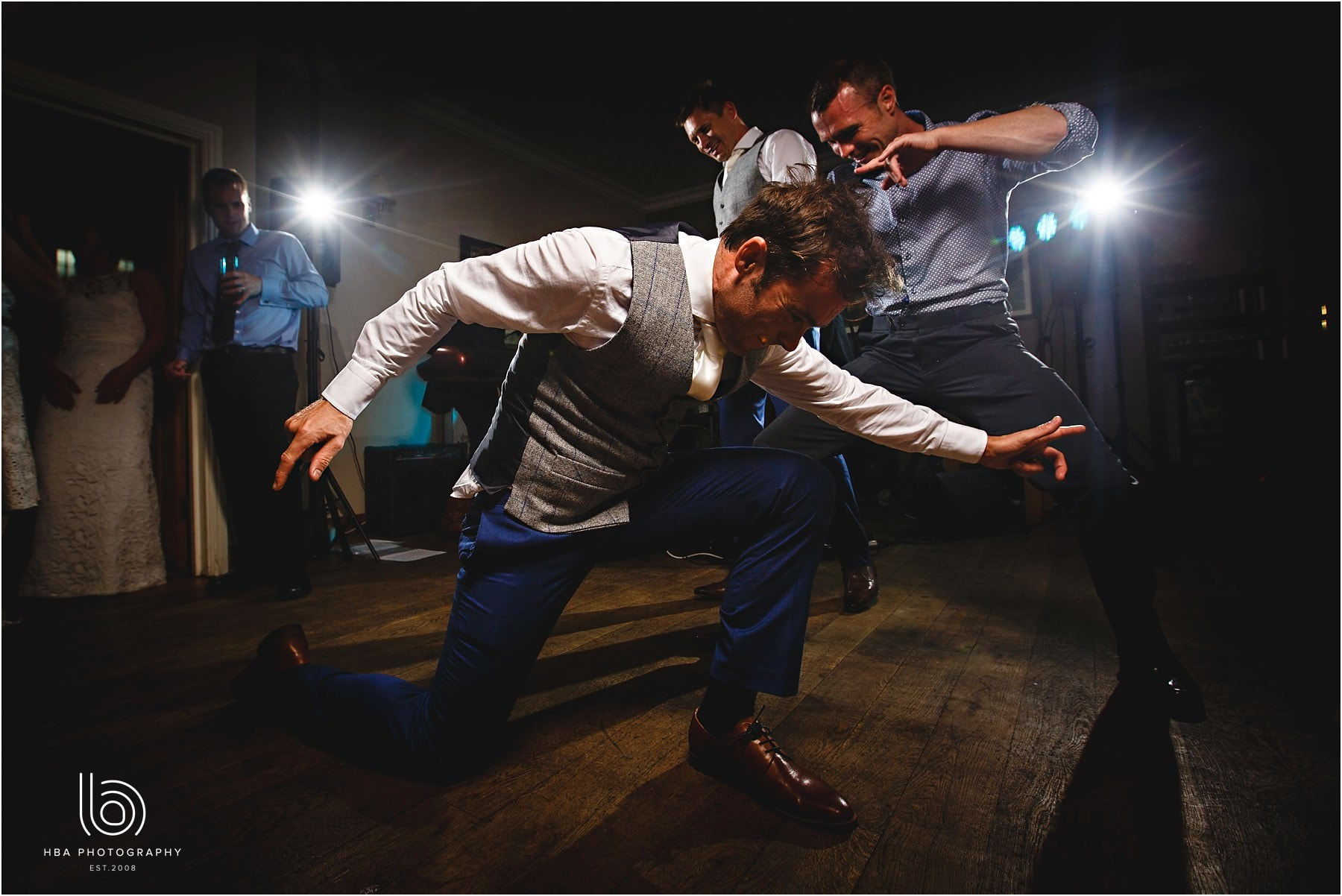 the groom dancing like elvis
