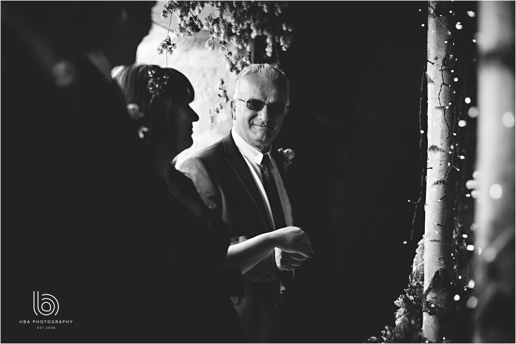 the father of the bride during the cermony