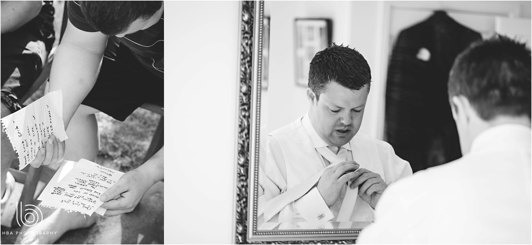 the groom in the mirror