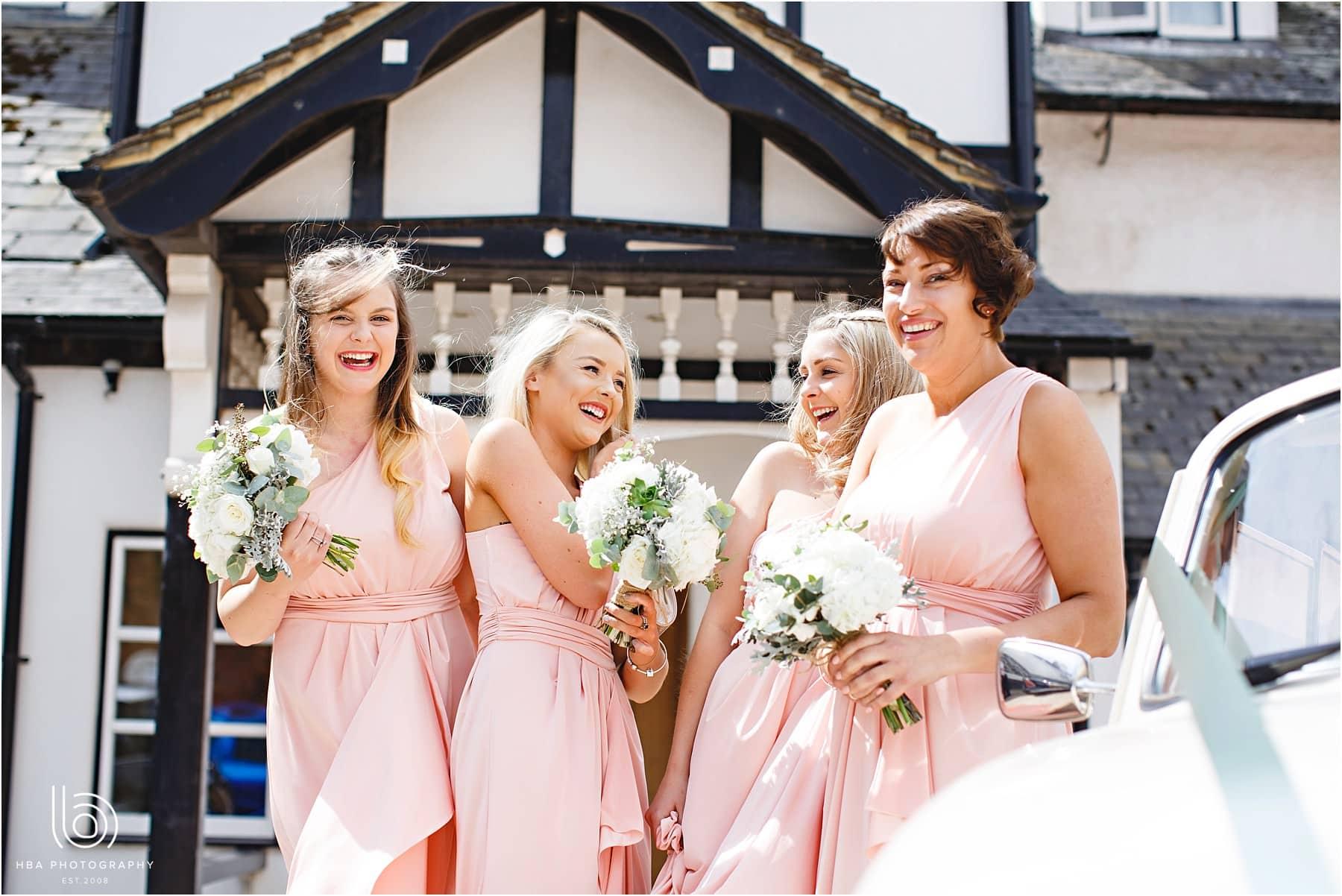 the bridesmaids waiting