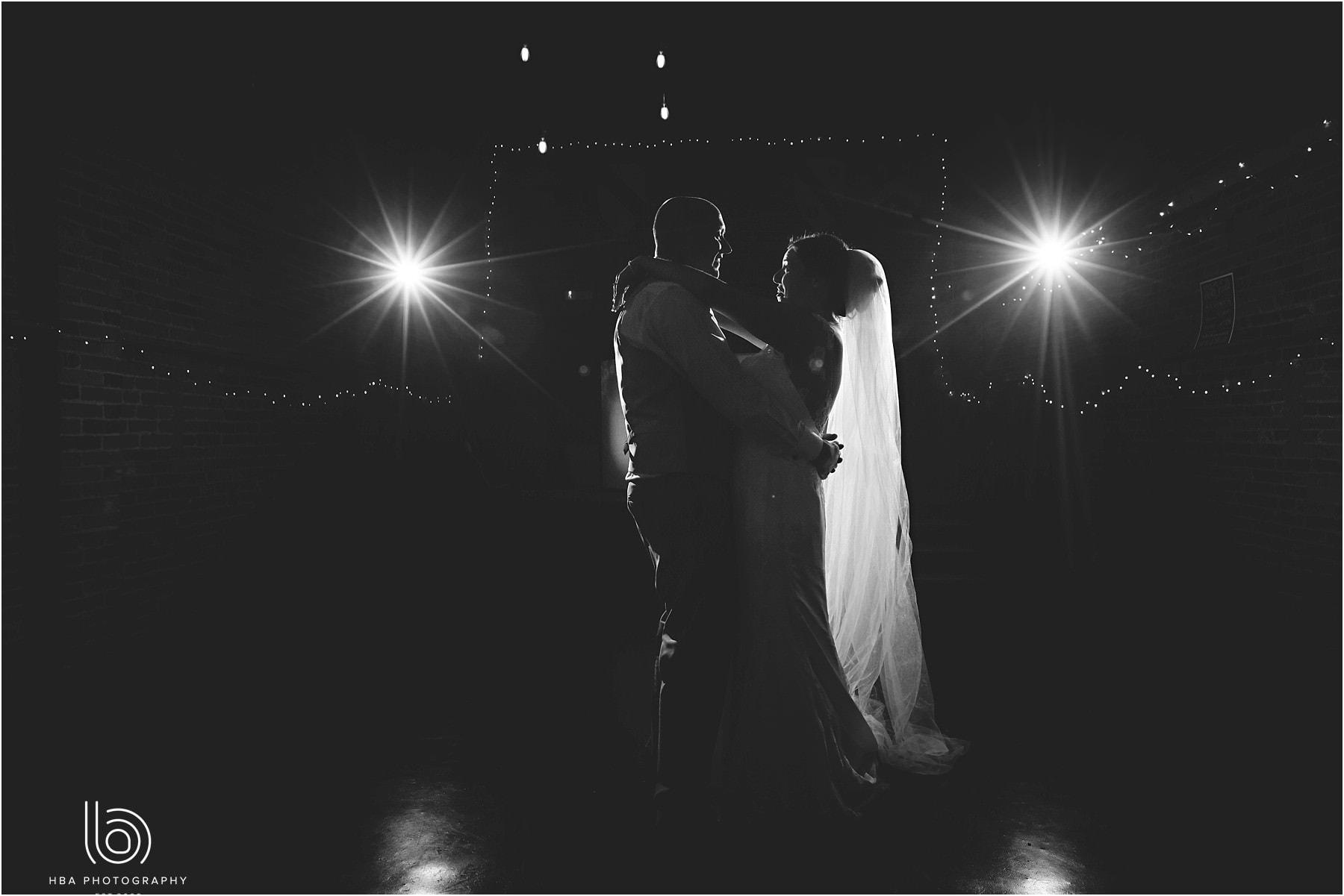 the bride & groomhaving their first dance