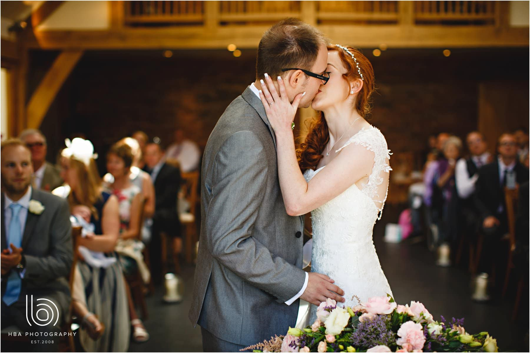 the first kiss during the ceremony