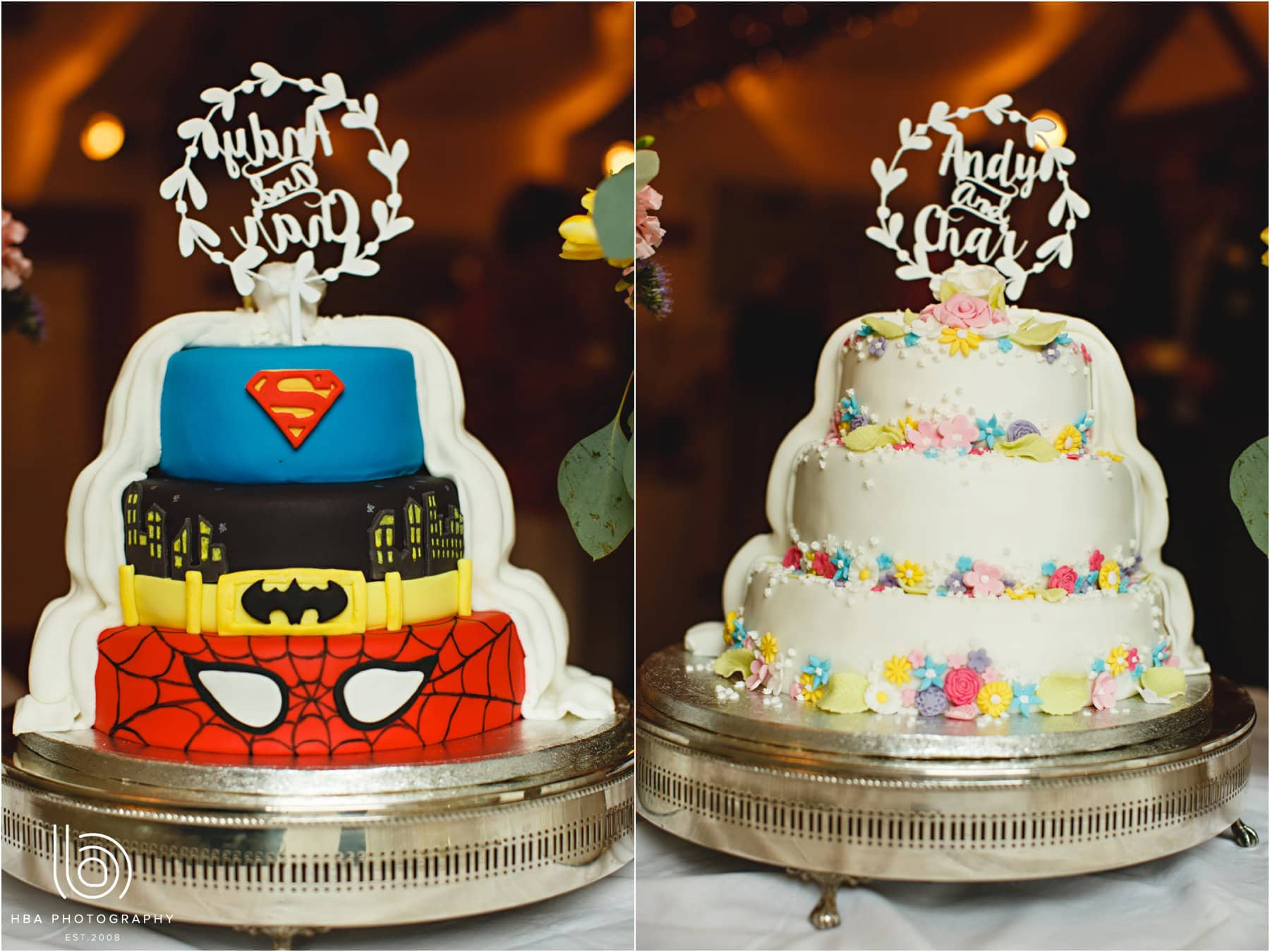 the superhero wedding cake