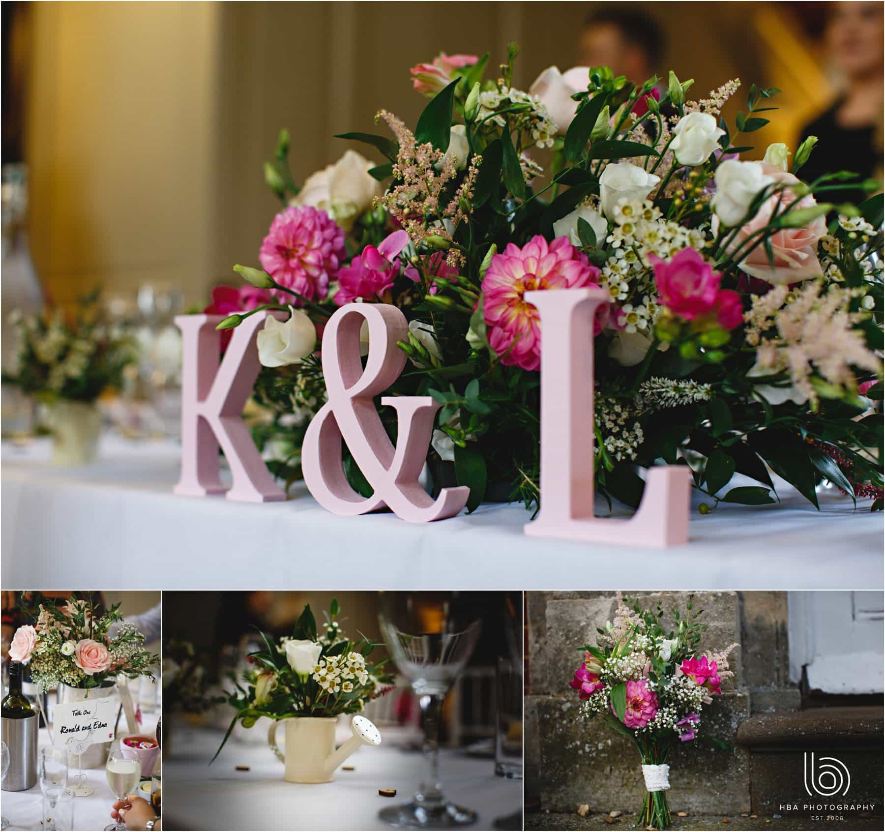 the wedding breakfast decor