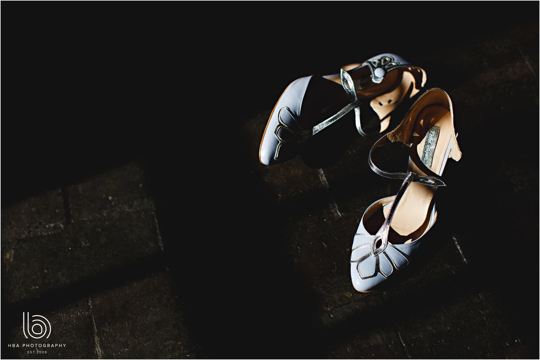 The bride's Rachel Simpson shoes