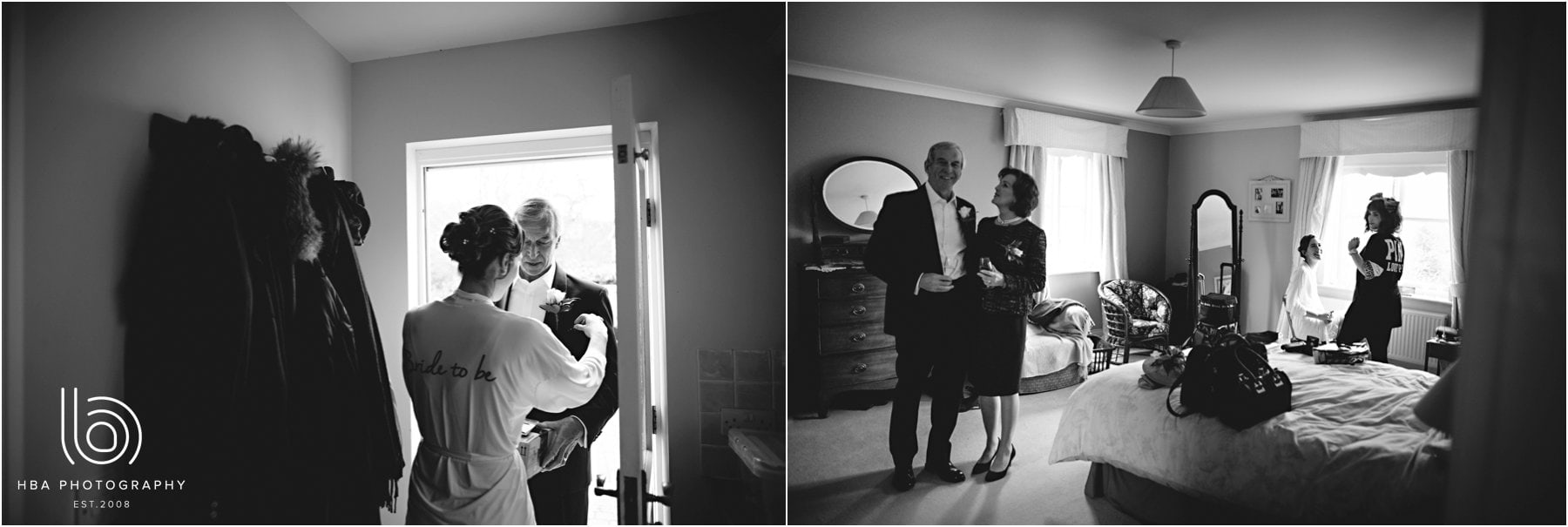 the mother and father of the bride
