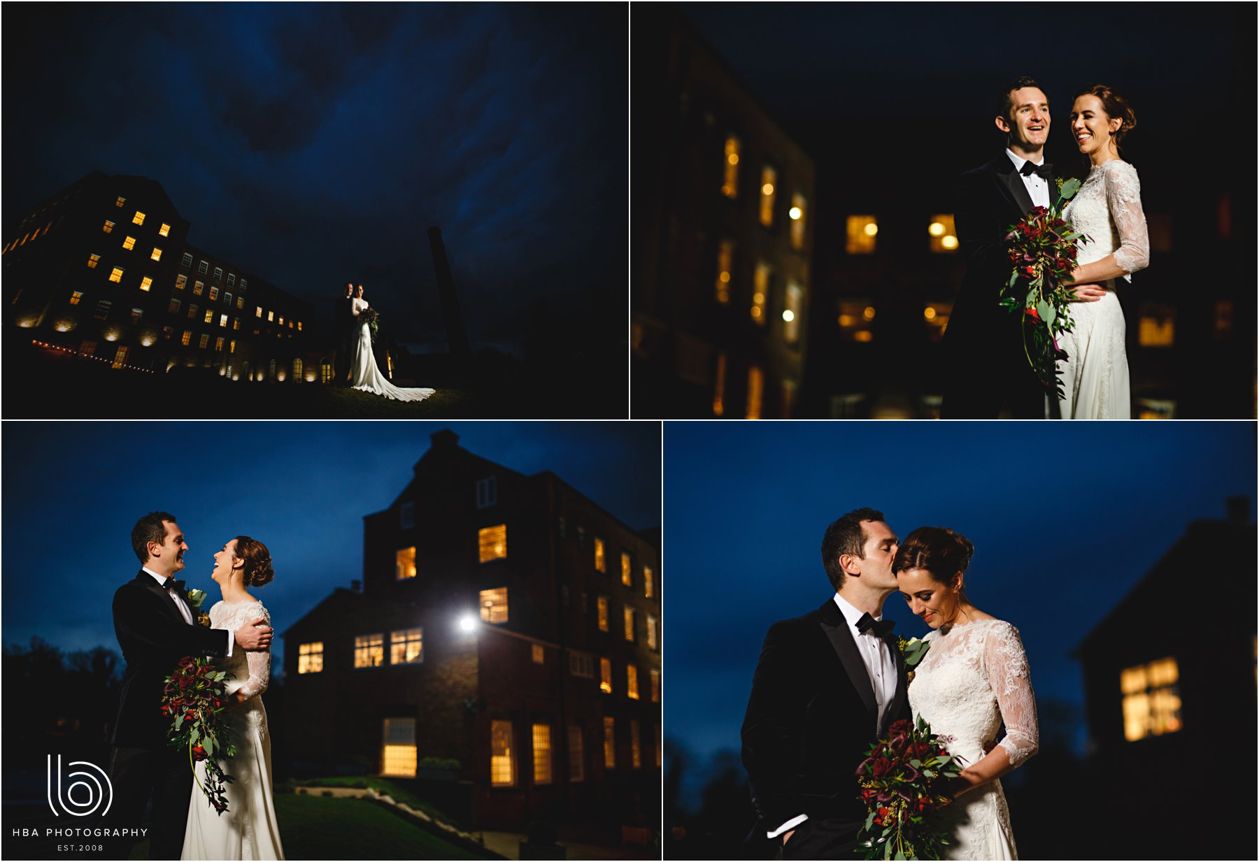 the bride and groom at the west mill