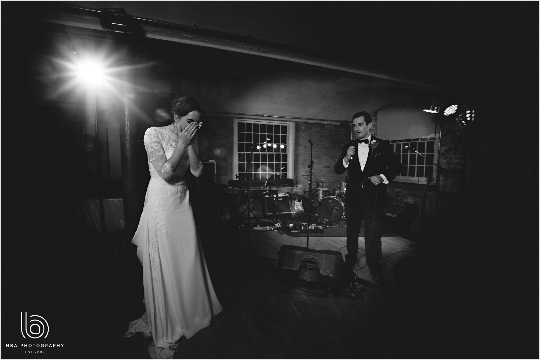 the groom singing for the bride