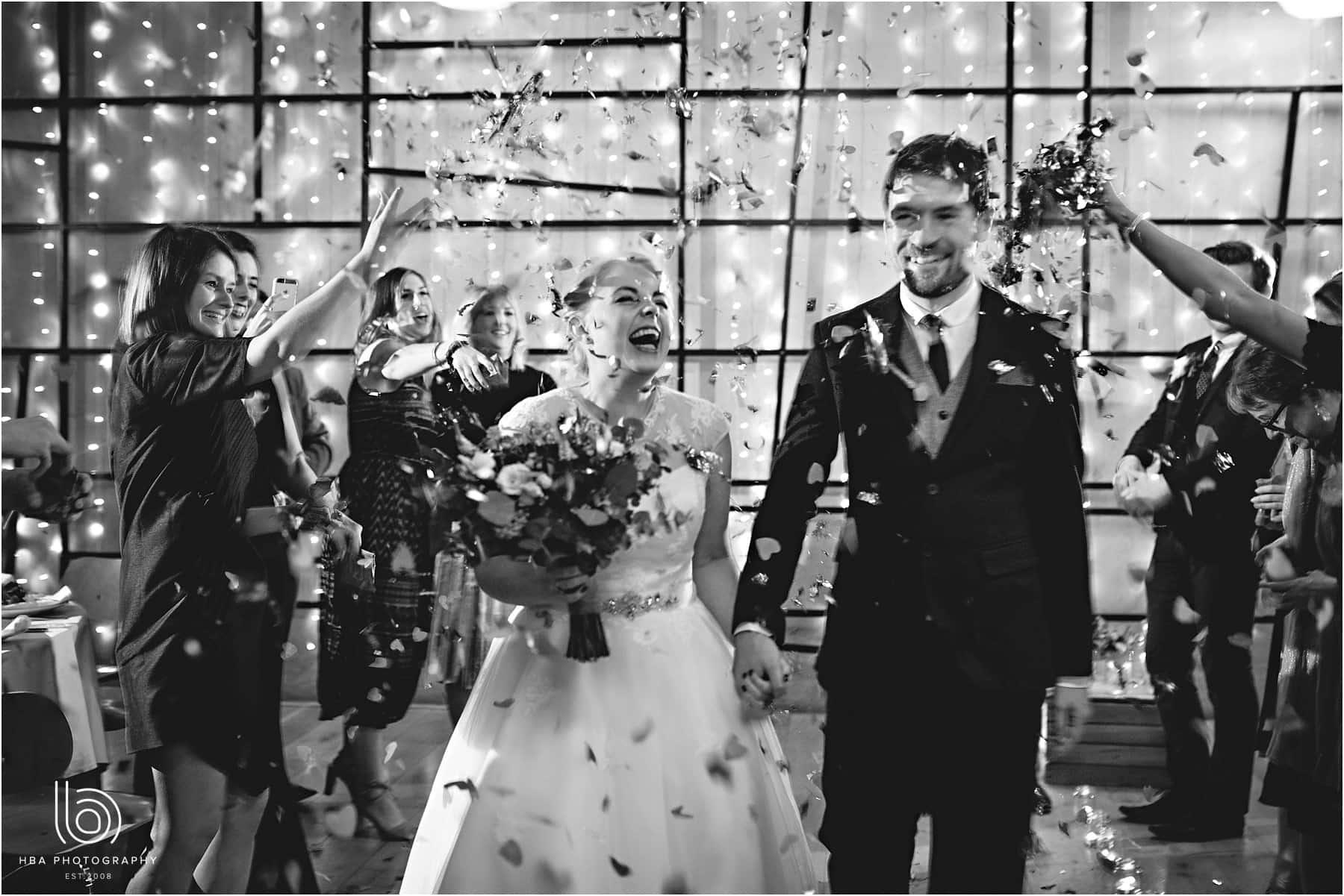 Black and white confetti photo