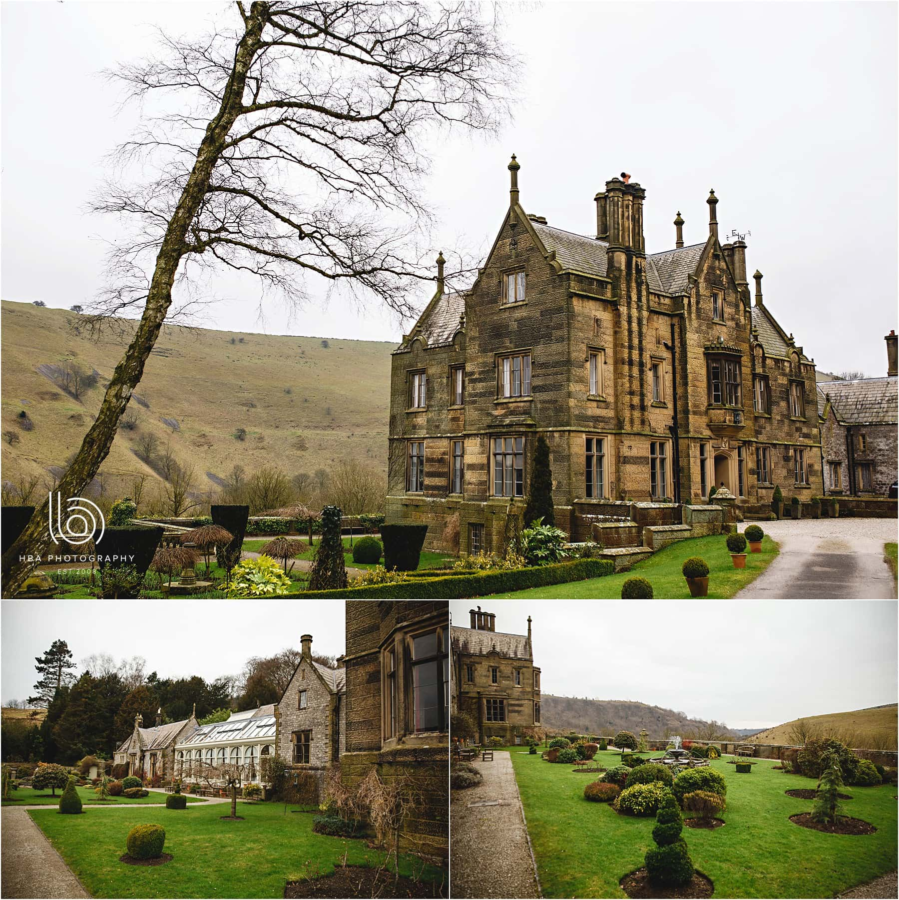 The wedding venue at Cressbrook Hall in Derbyshire