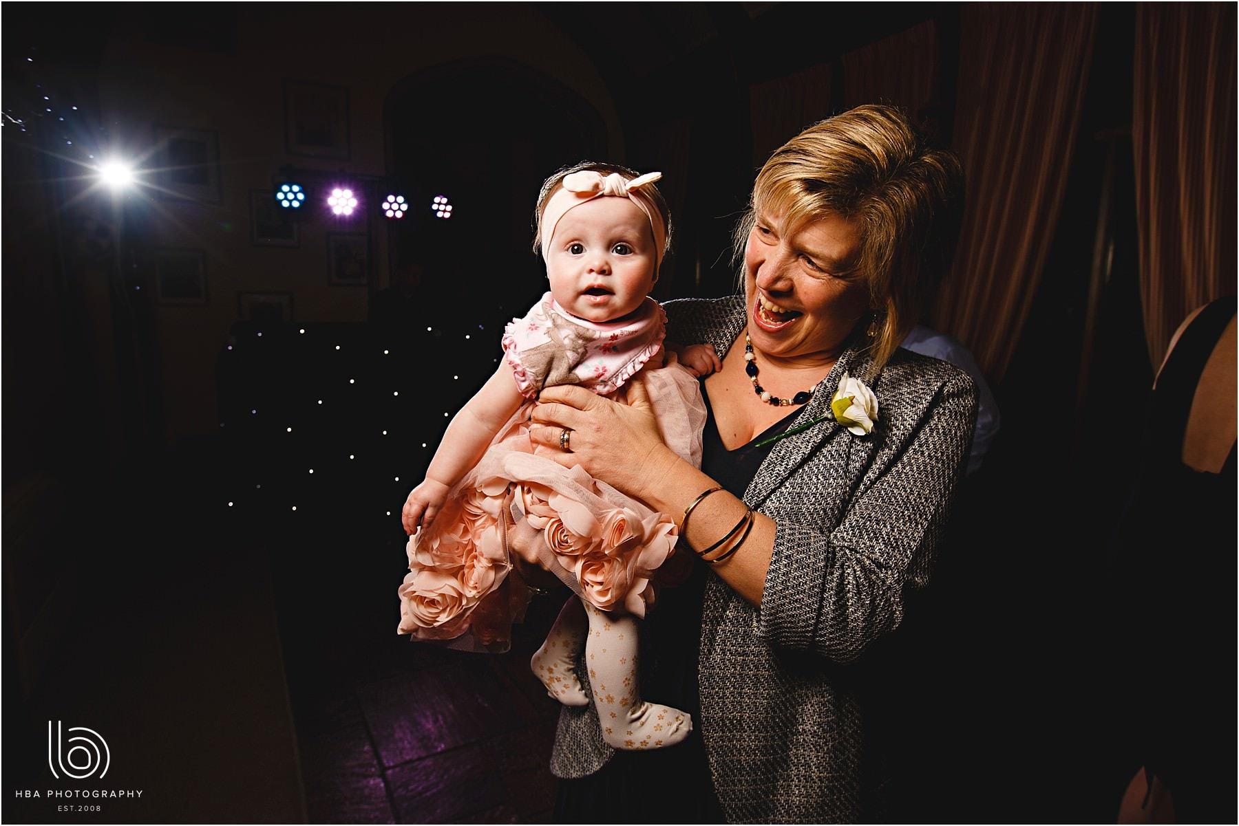 A baby on the dancefloor