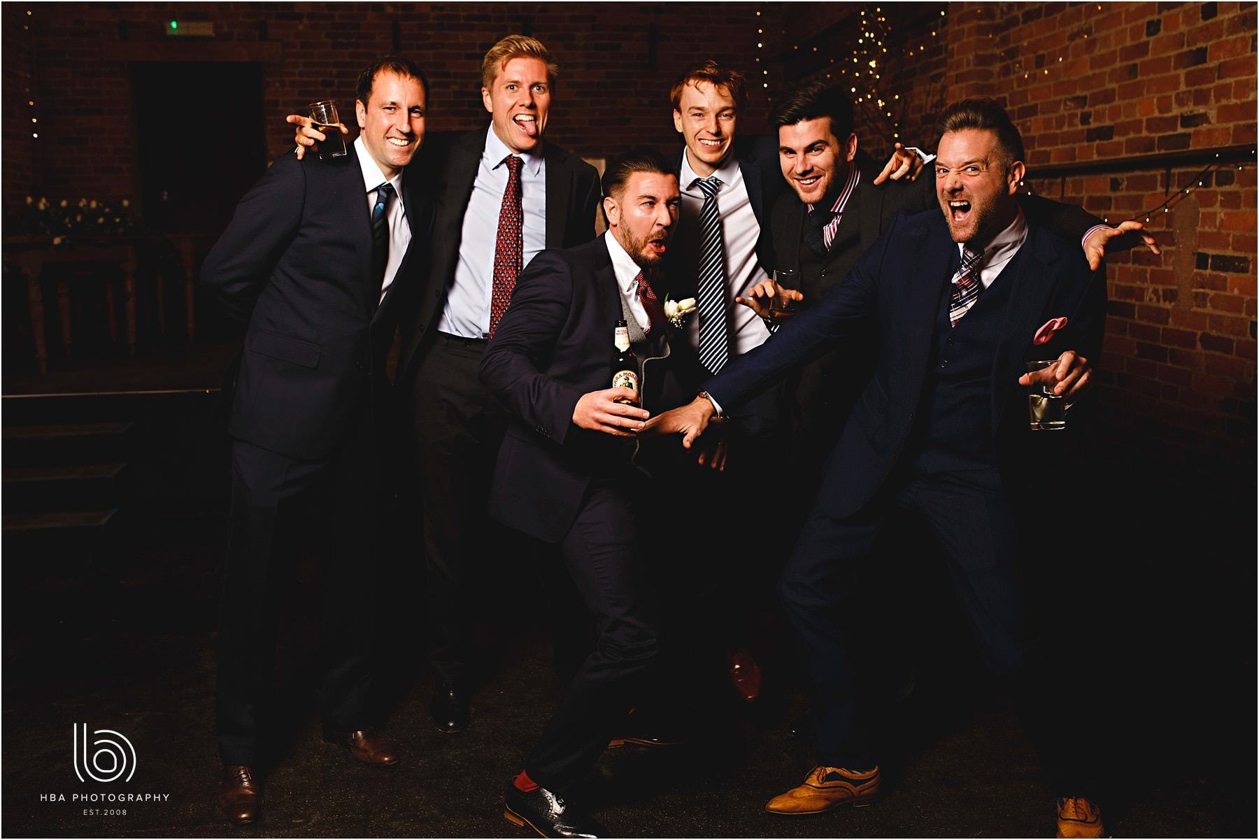 A group photo of the groom and his friends