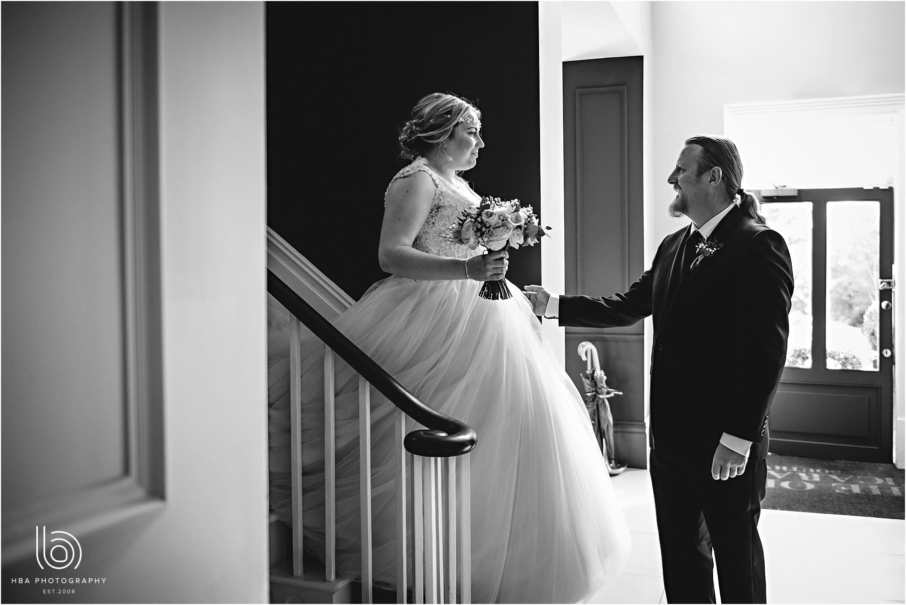the bride's dad seeing his daughter for the first time