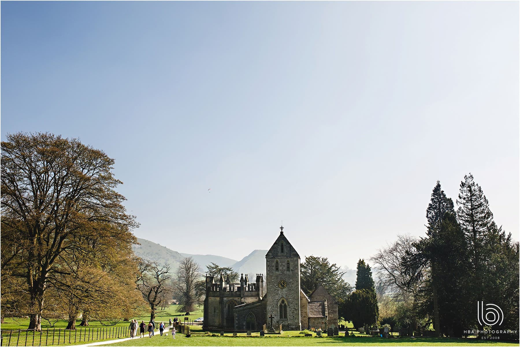 the church at Ilam in the Peak District