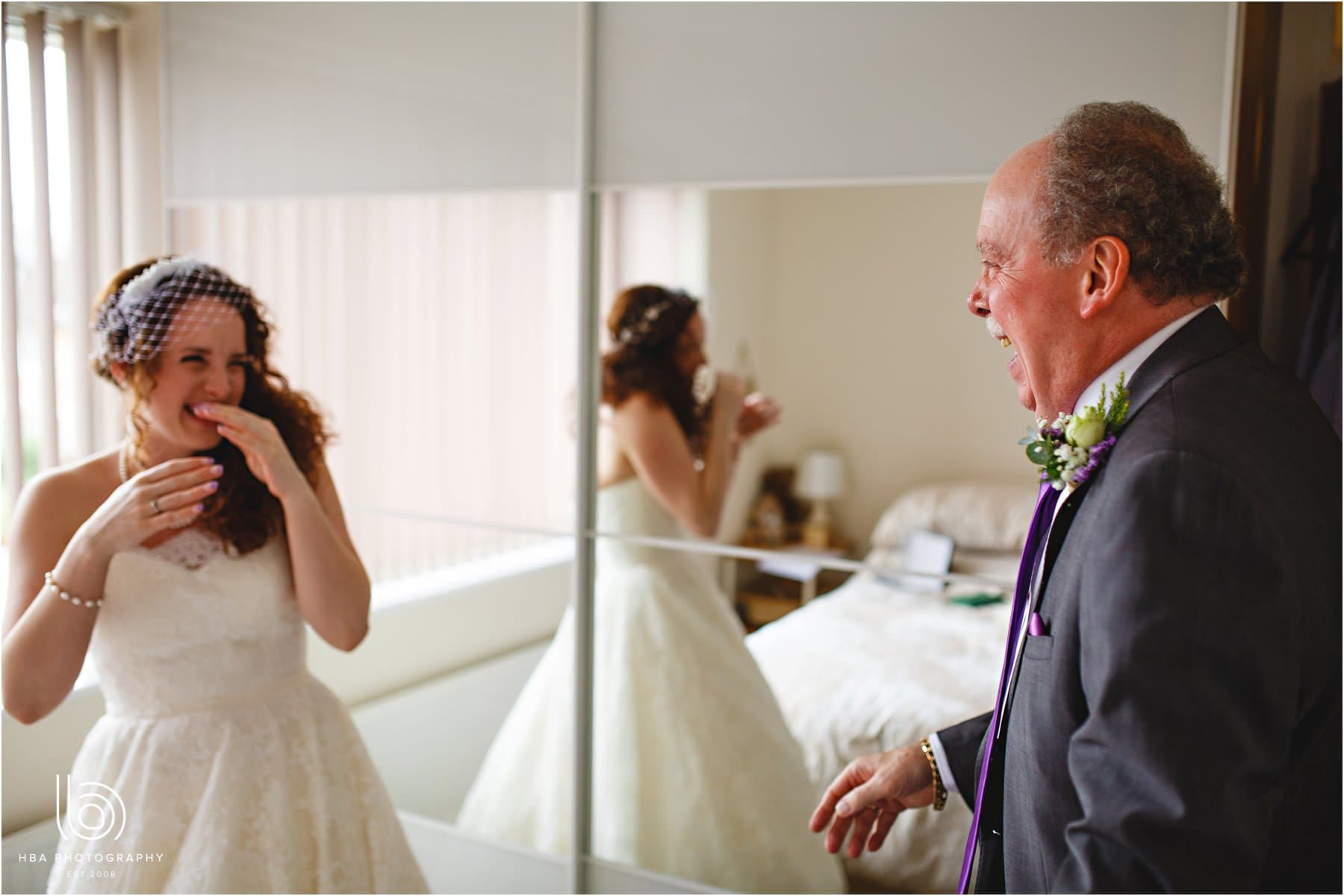 the bride's dad seeing her for the first time