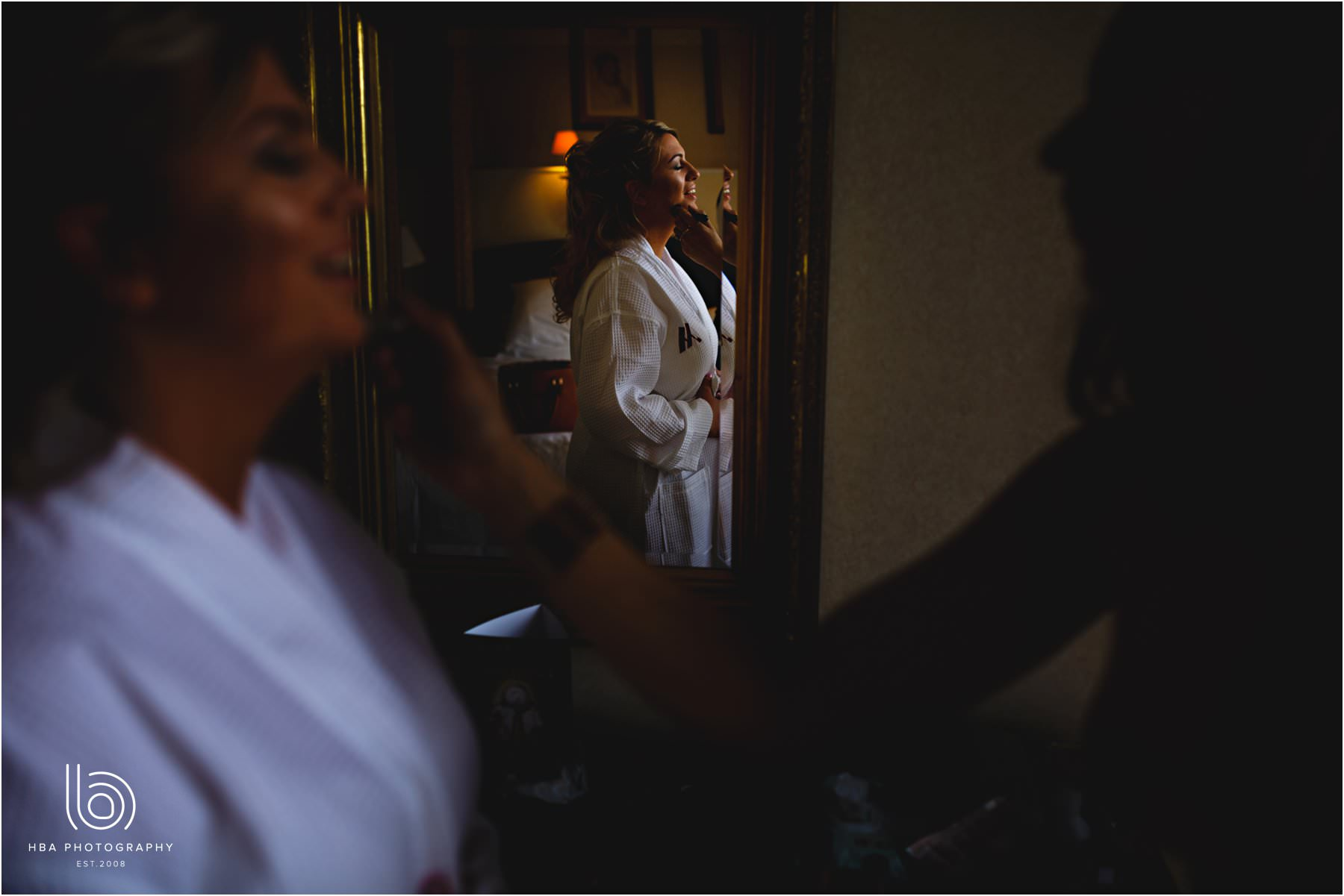 The bride getting ready at Breadsall Priory