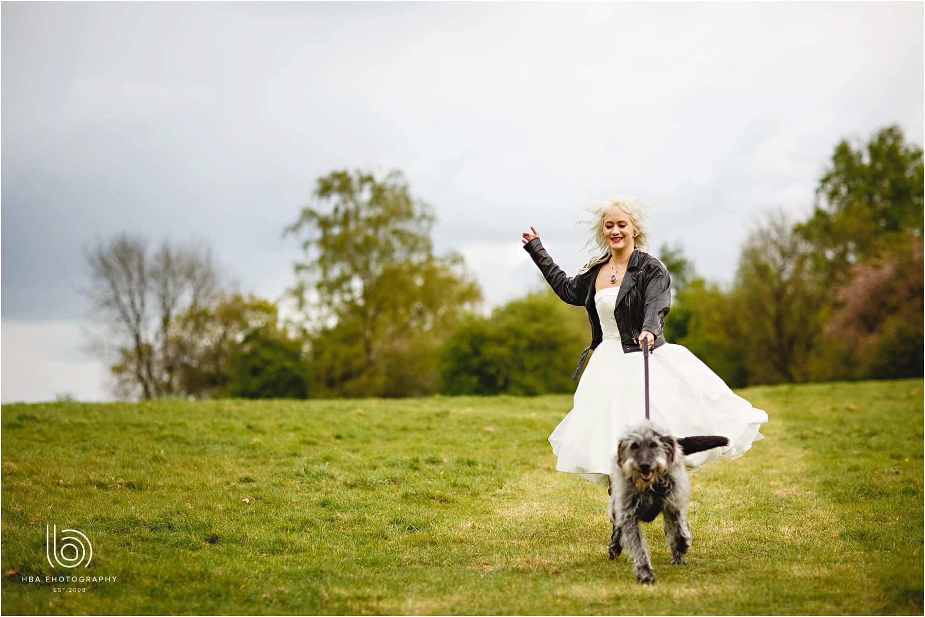 wedding day dog walking