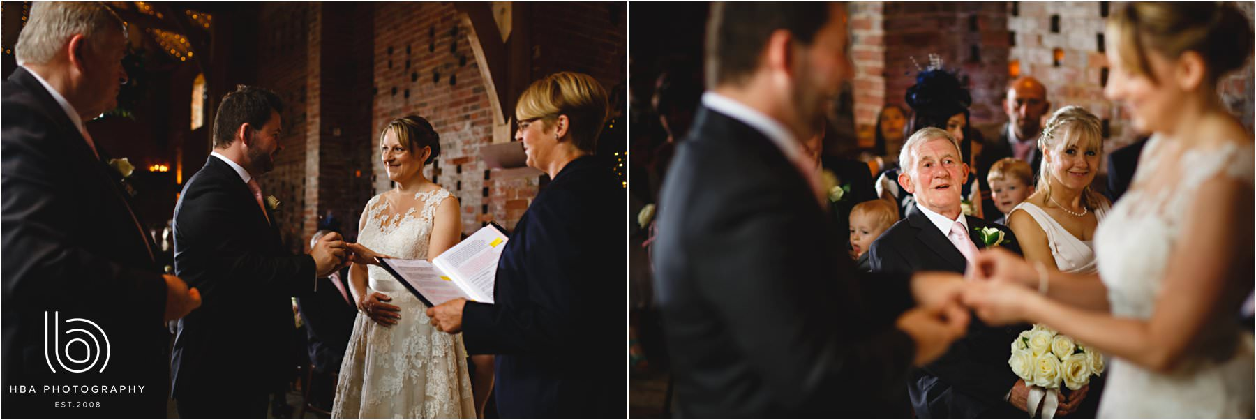the wedding ceremony at Shustoke