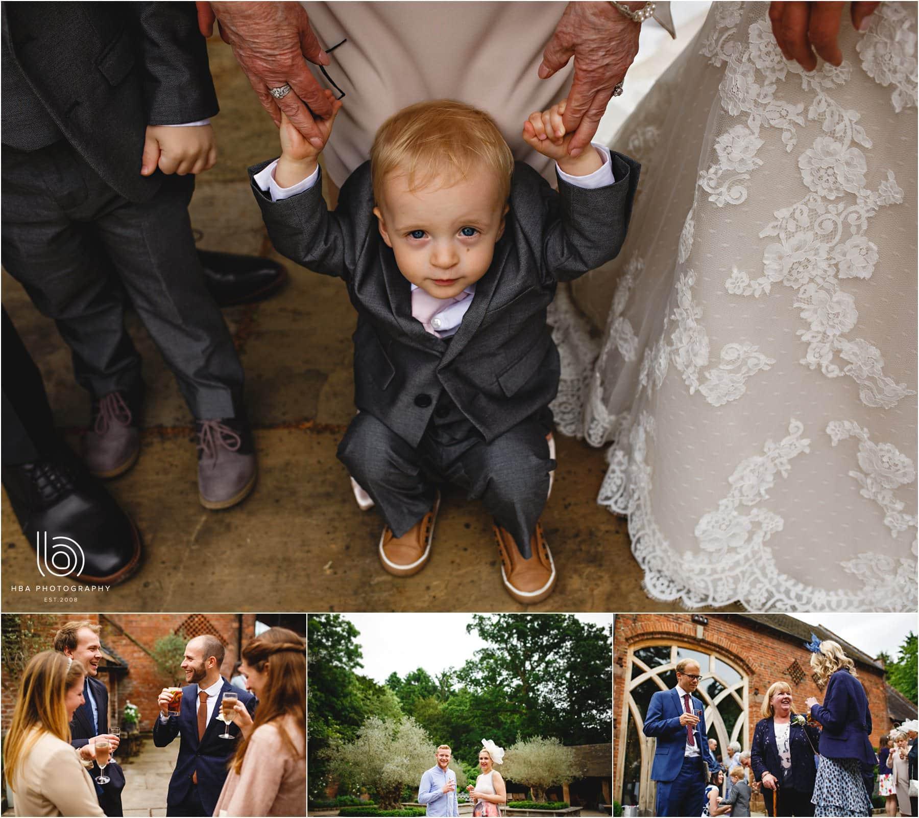 the bride & groom's guests