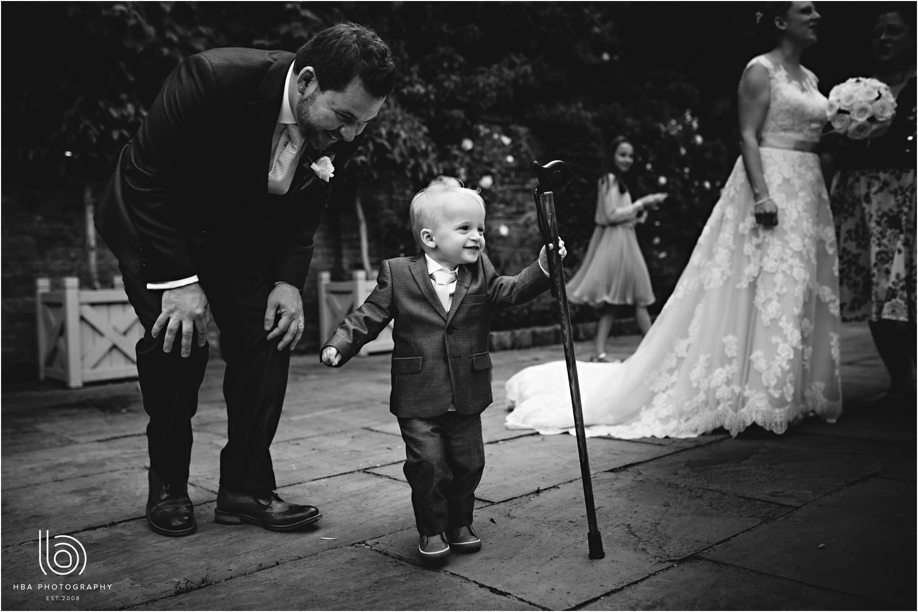 the bride & groom's son