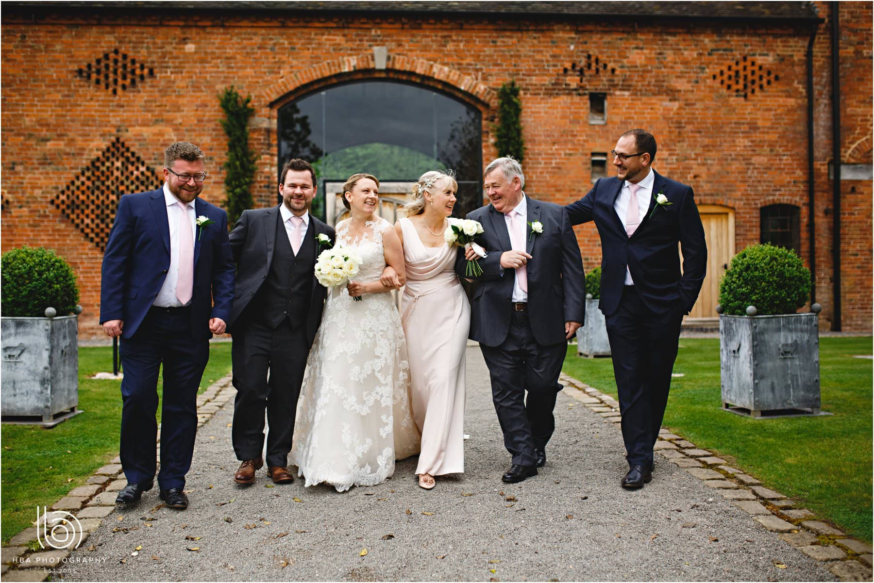 the wedding party at Shustoke