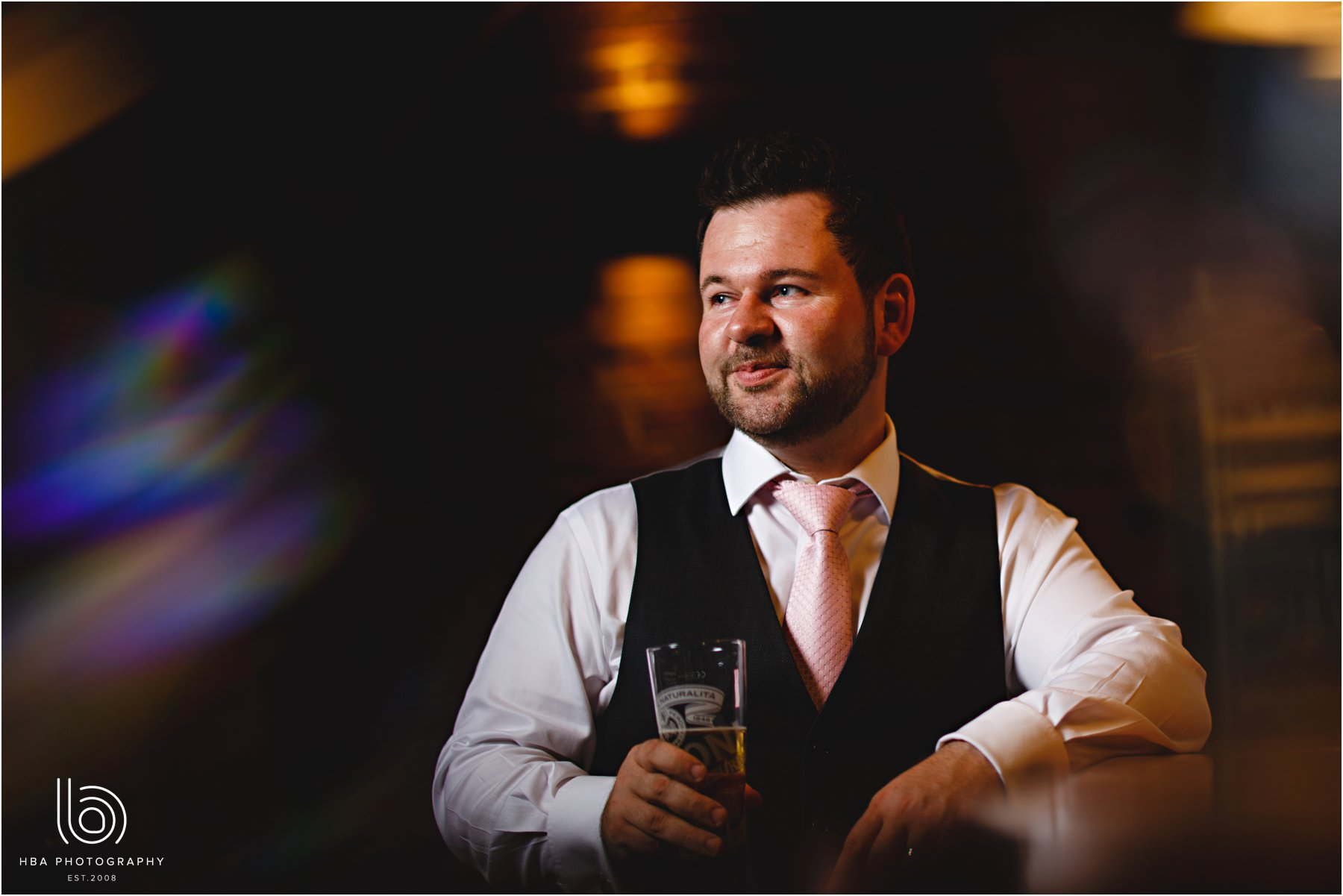 the groom at the bar