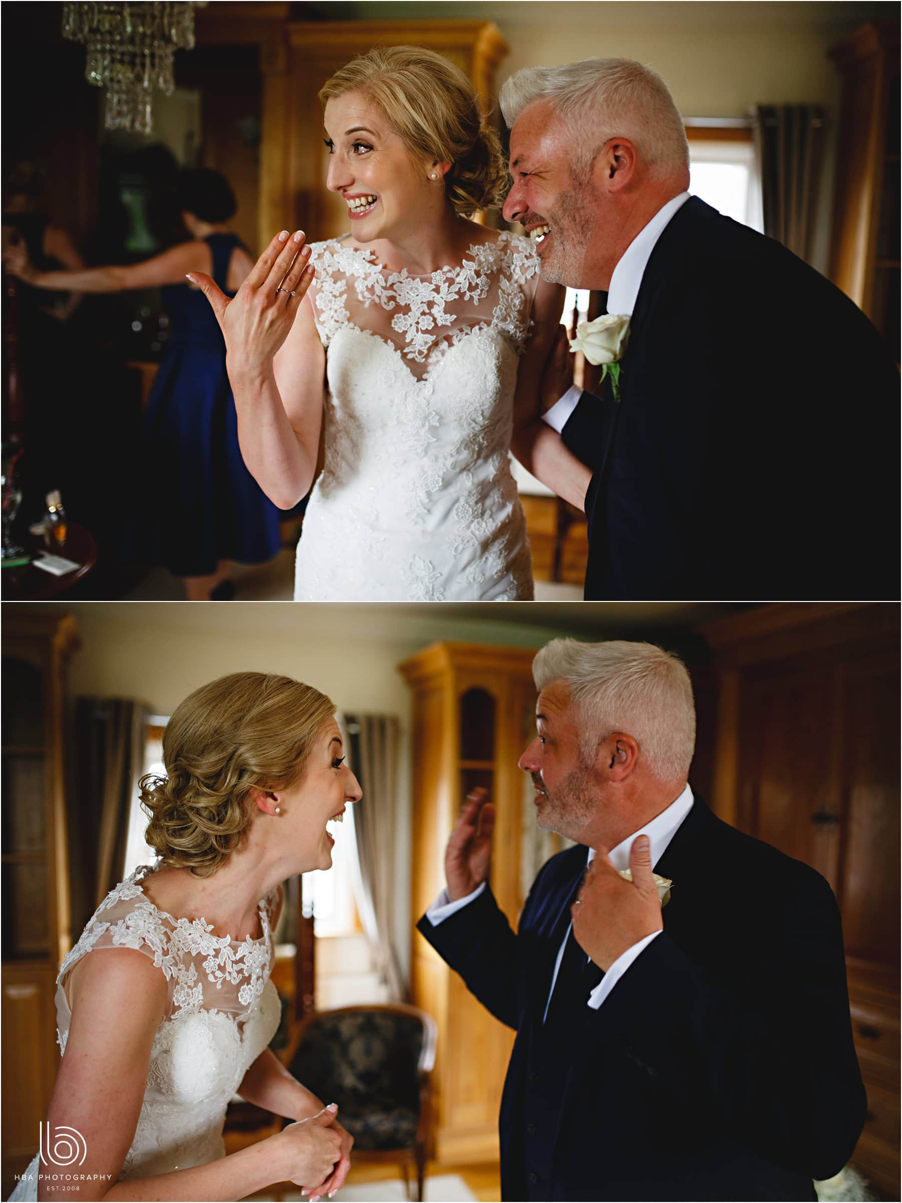 the bride and her brother in tears