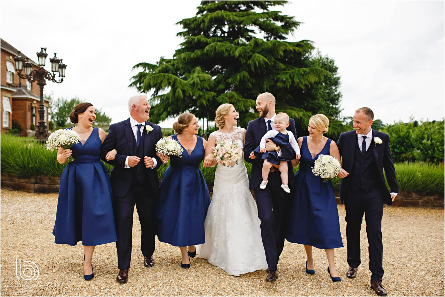 the bride & groom and the wedding party