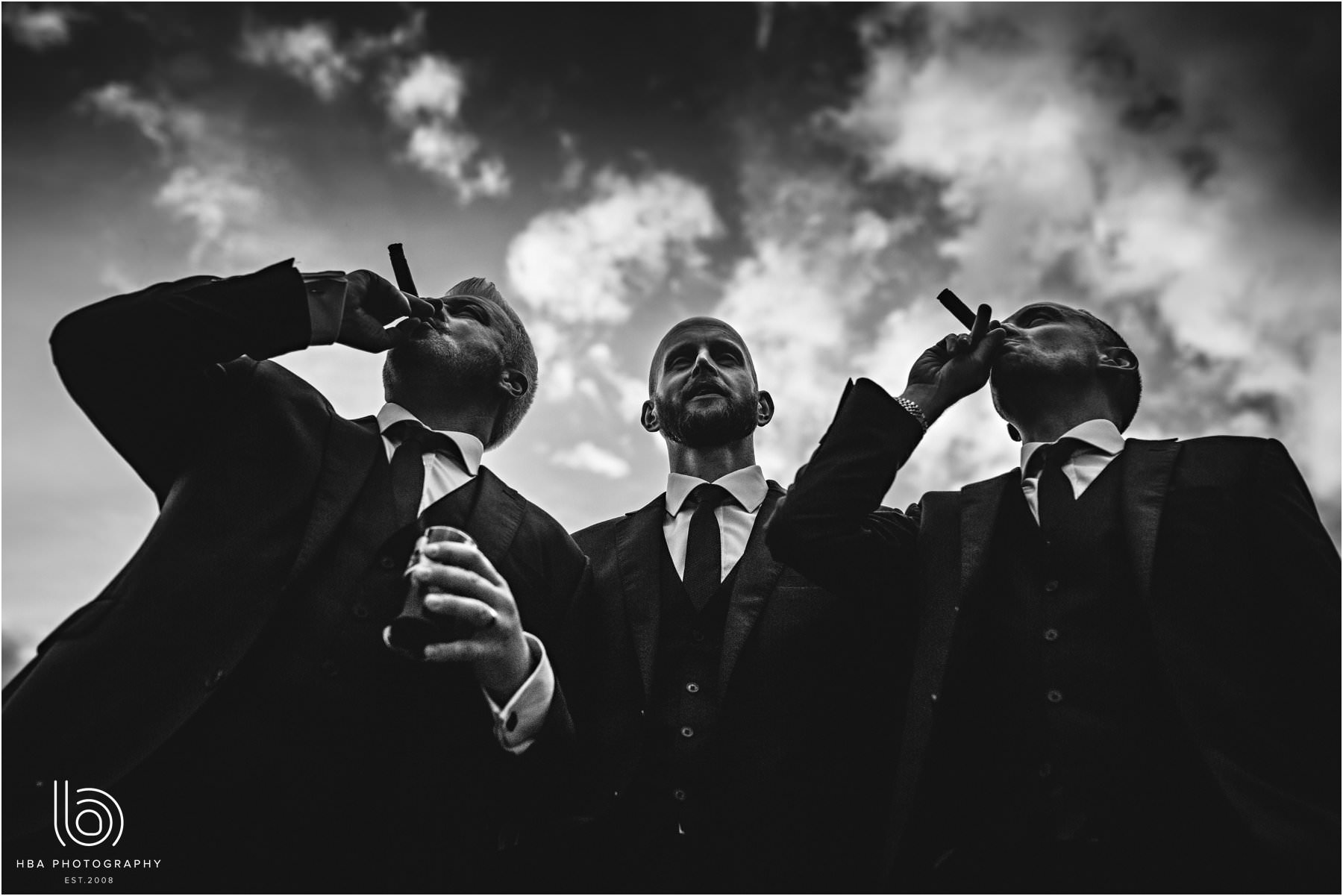 the groom and cigars