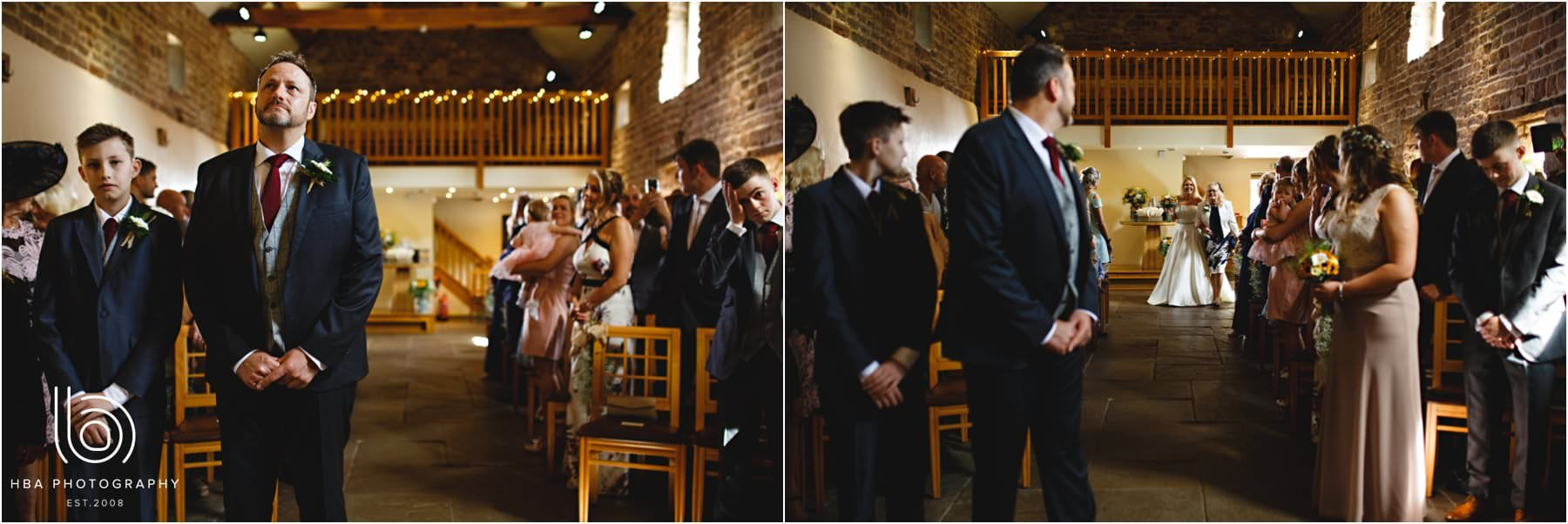 the wedding ceremony in the west barn