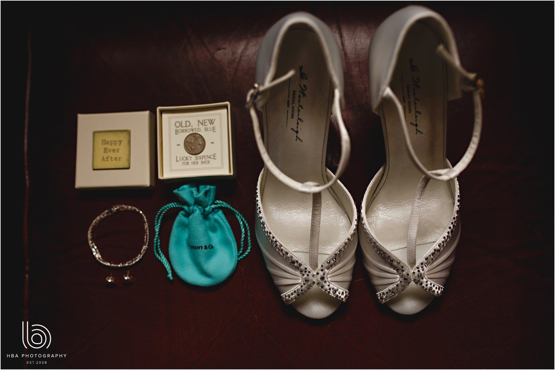 the bride's shoes and sixpence