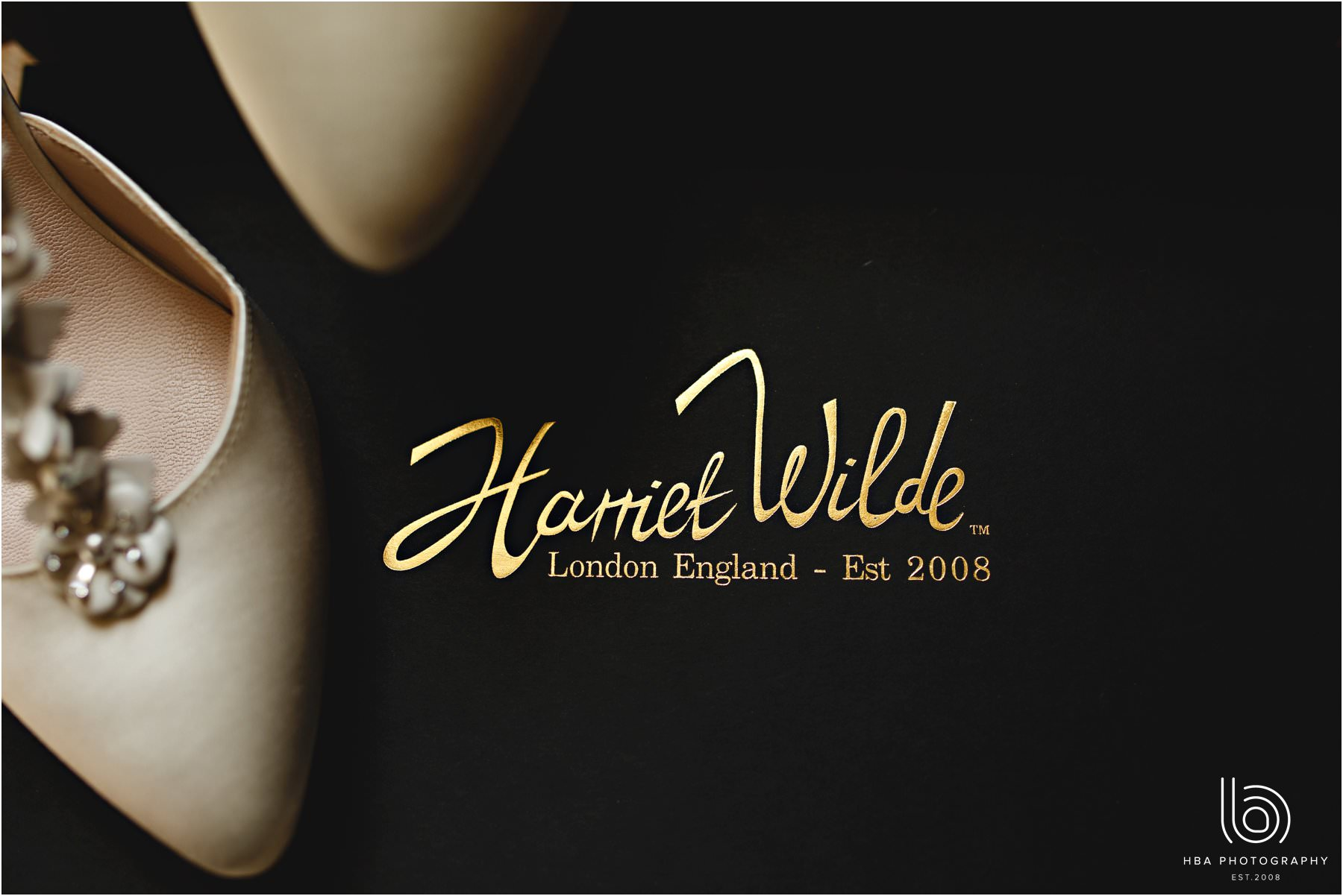 The bride's Harriet Wilde shoes