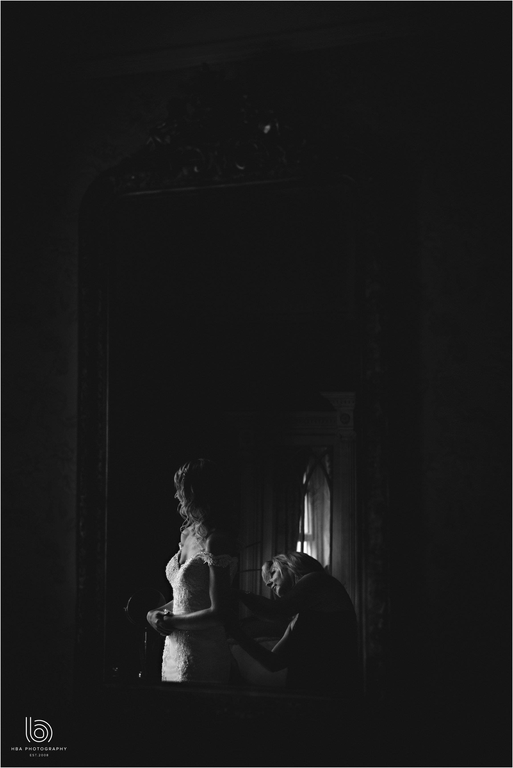 the bride in silhouette