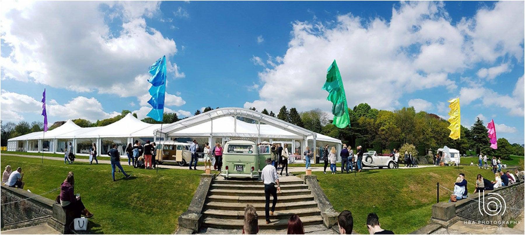 the giant wedding fair at Osmaston Park