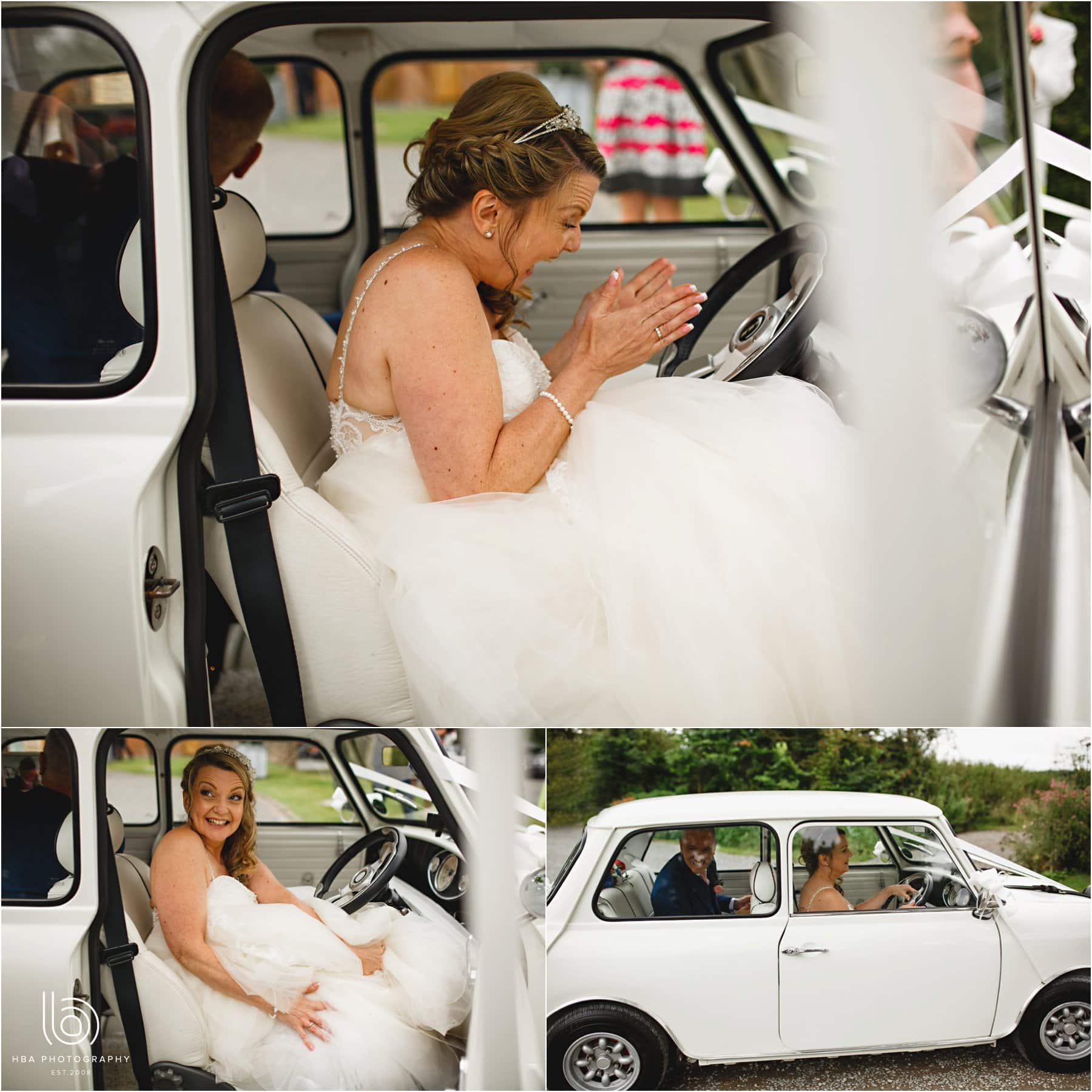 the bride in the mini