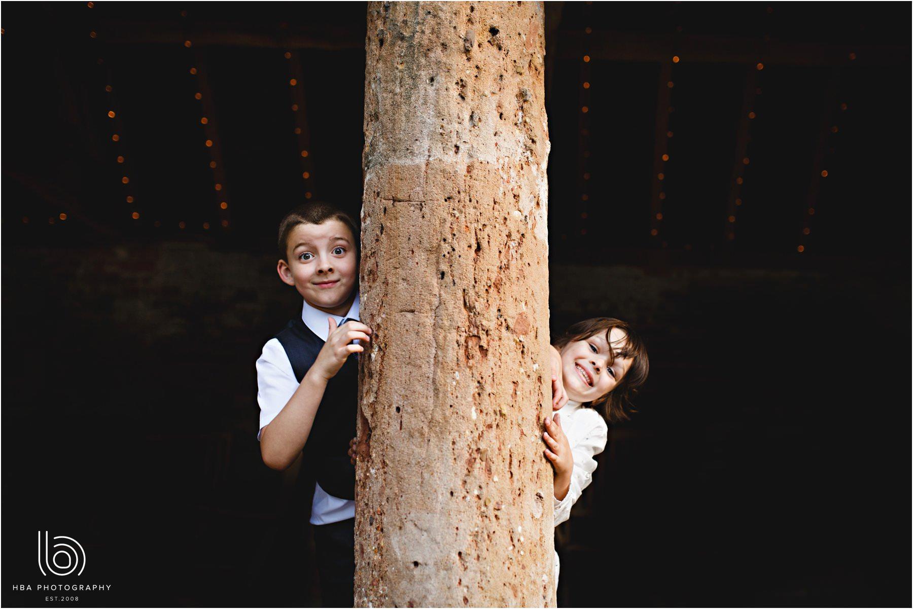 kids playing at shustoke