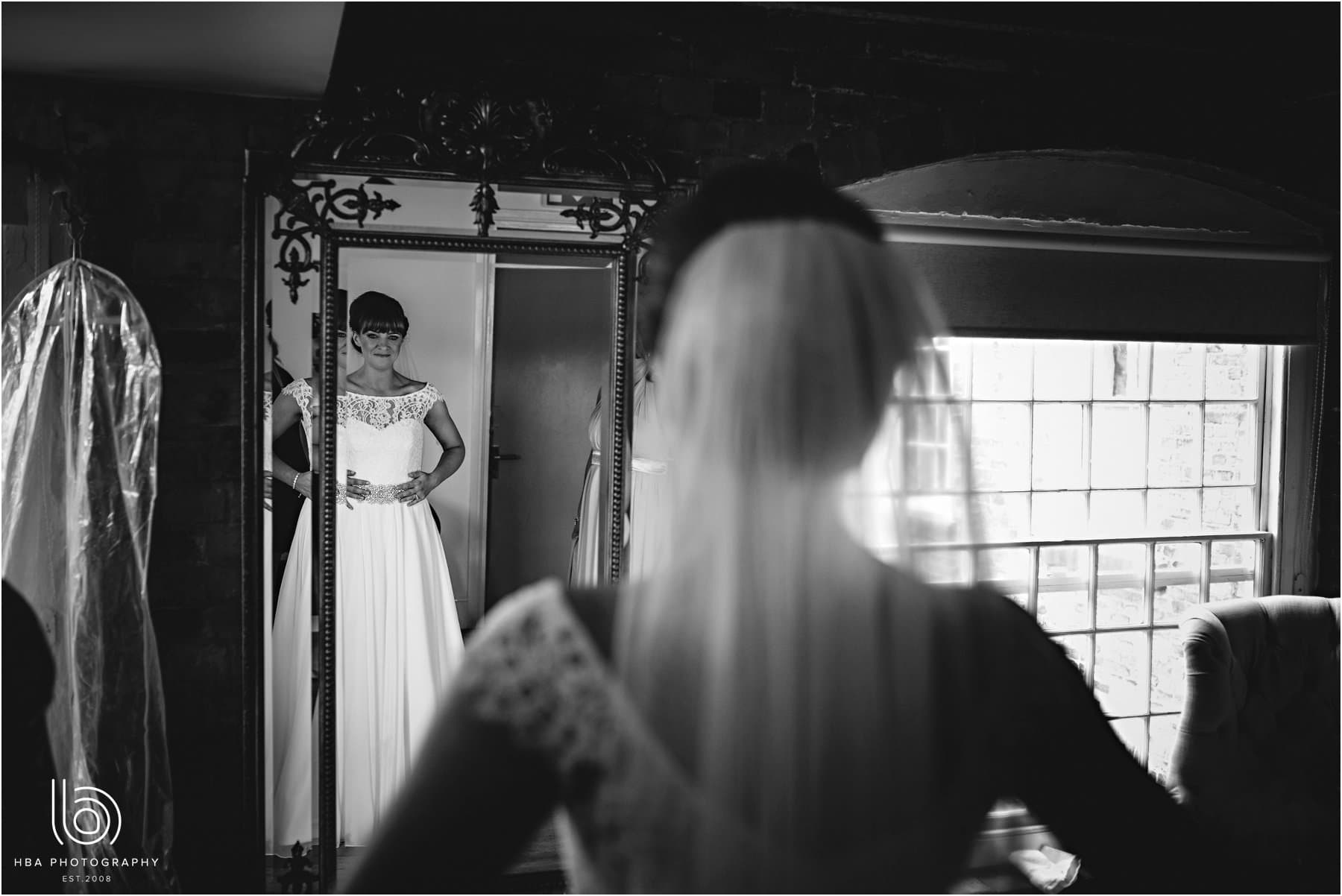 The bride in the mirror