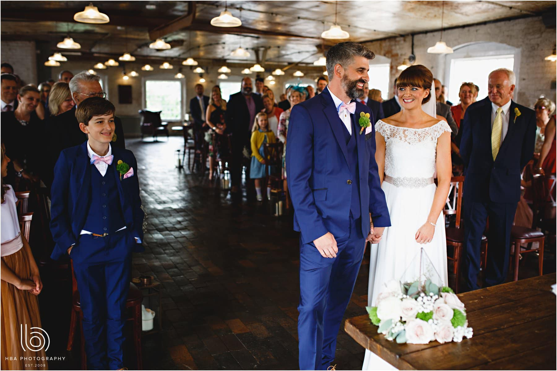 the wedding ceremony at The West Mill